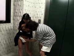Tanlines busty japanese schoolgirl fingered until she soaks