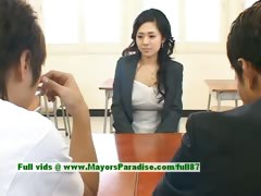 Sora Aoi innocent down in burnish apply mouth japanese pupil is obtaining fucked in burnish apply classroom