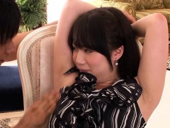 Gorgeous Japanese babe facialed meet approval pounding