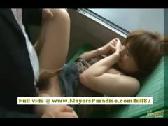 Rio Asian model is fucked not susceptible the bus