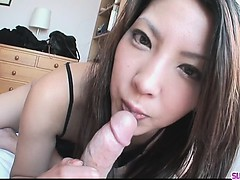 Saya Shows Her Blowjob Skills As She Sucks Him Unprofitable